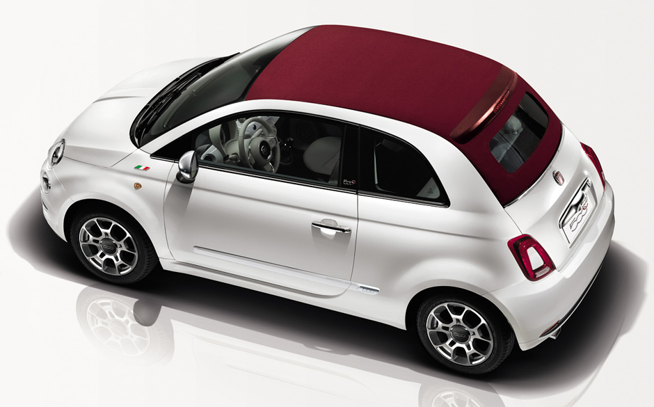 fiat 500c petit cabriolet voiture styl e confortable. Black Bedroom Furniture Sets. Home Design Ideas
