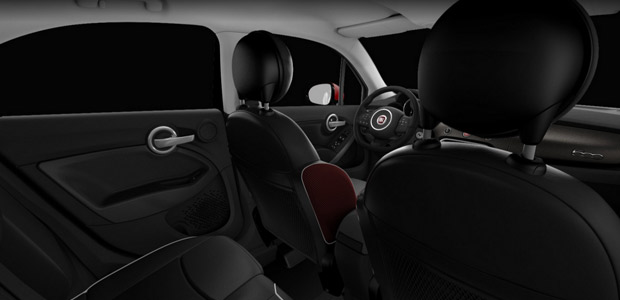 Fiat 500x off road crossover tout terrain for Interieur fiat 500x